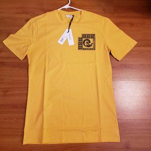 Versace Collection Men's Slim Fit Yellow T-Shirt